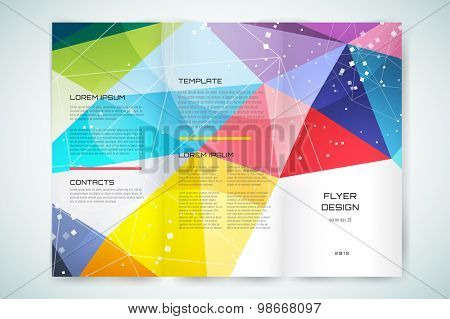 Abstract brochure or flyer design template. Book cover design, blank, print design, journal.