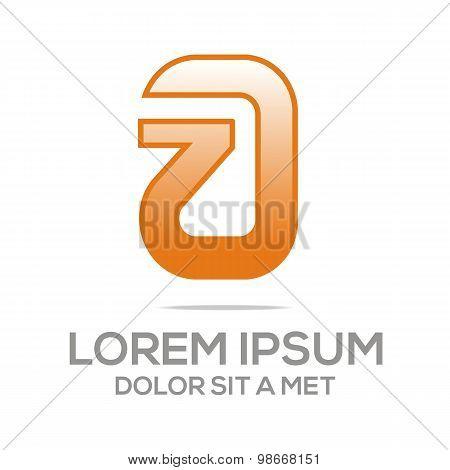 Logo letter a alphabet star vector