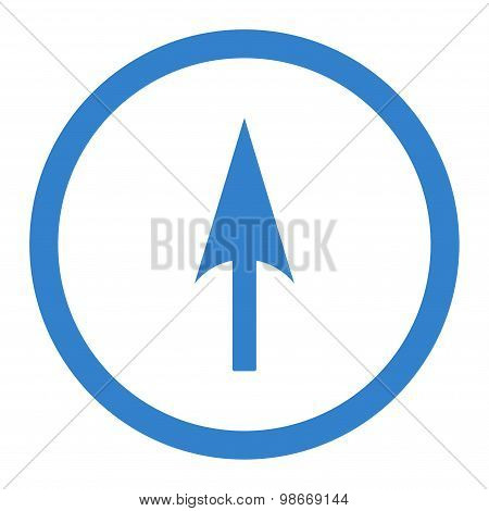 Arrow Axis Y flat cobalt color rounded vector icon