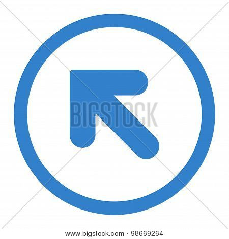 Arrow Up Left flat cobalt color rounded vector icon
