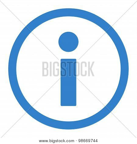 Info flat cobalt color rounded vector icon