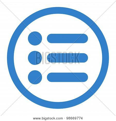 Items flat cobalt color rounded vector icon