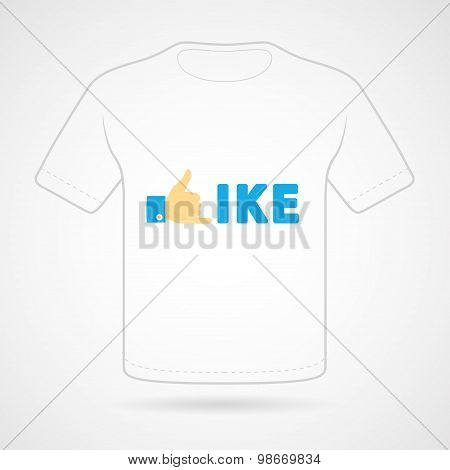 T-shirt with funny print on white background. Vector  print.