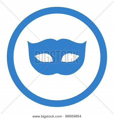 Privacy Mask flat cobalt color rounded vector icon
