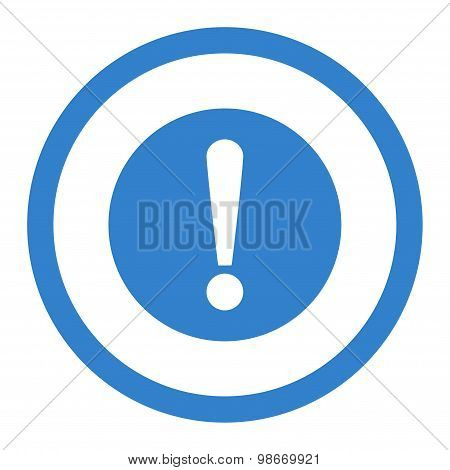 Problem flat cobalt color rounded vector icon