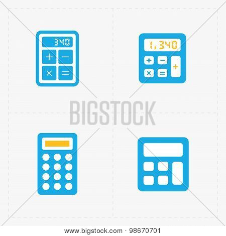 Vector colorful calculator icons set