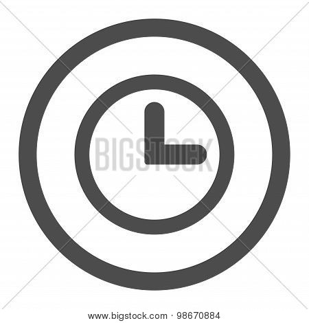 Clock flat gray color rounded vector icon