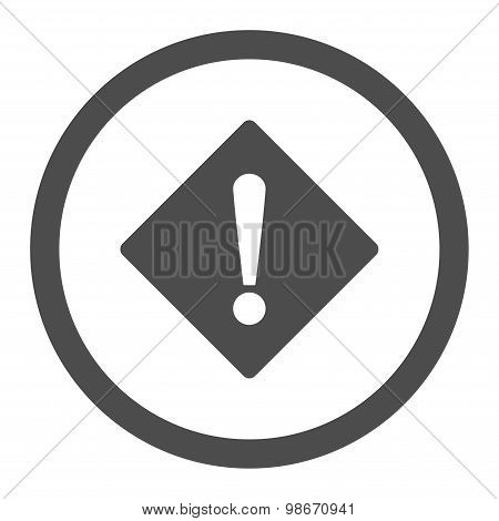 Error flat gray color rounded vector icon