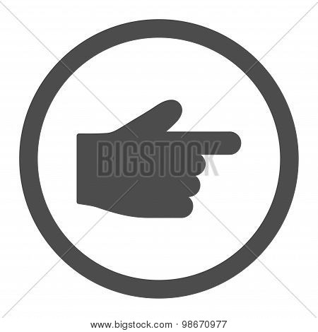 Index Finger flat gray color rounded vector icon