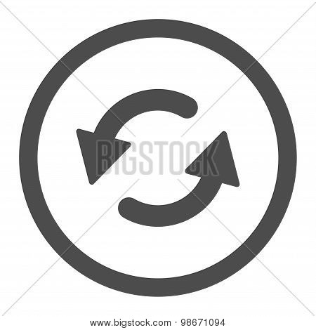 Refresh Ccw flat gray color rounded vector icon
