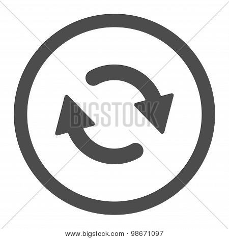 Refresh flat gray color rounded vector icon