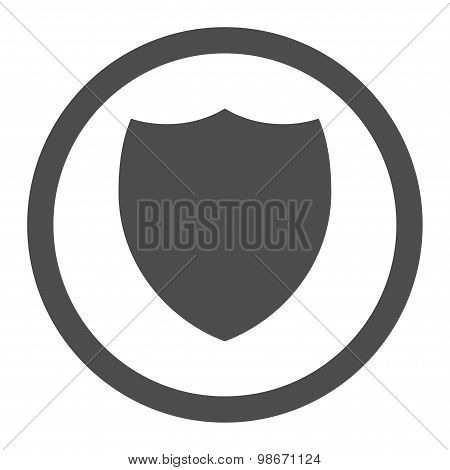 Shield flat gray color rounded vector icon