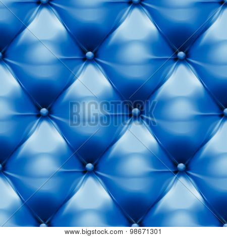 Vector Of Blue Upholstery Leather Pattern Background
