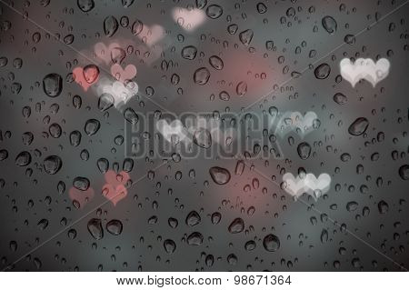 Rain And Heart Bokeh