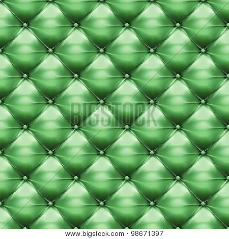 Vector Of Green Upholstery Leather Pattern Background