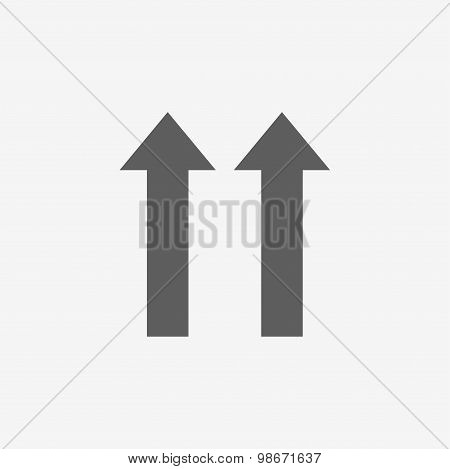 Arrow. Flat icon