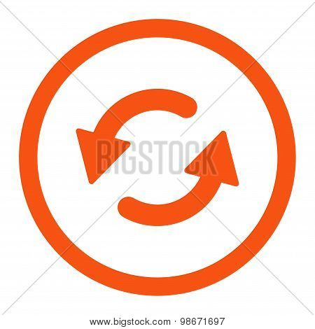 Refresh Ccw flat orange color rounded vector icon