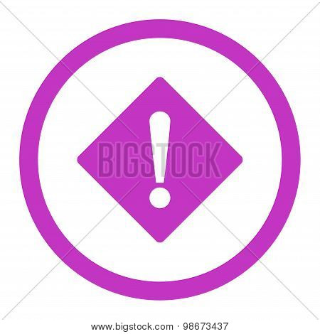 Error flat violet color rounded vector icon