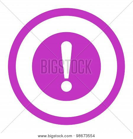 Problem flat violet color rounded vector icon