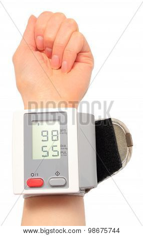 Hand With Instrument For Measuring Blood Pressure