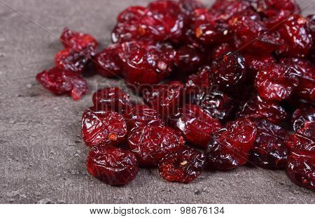 Heap Of Cranberries On Structure Of Concrete