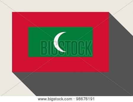 Maldives flag in flat web design style.