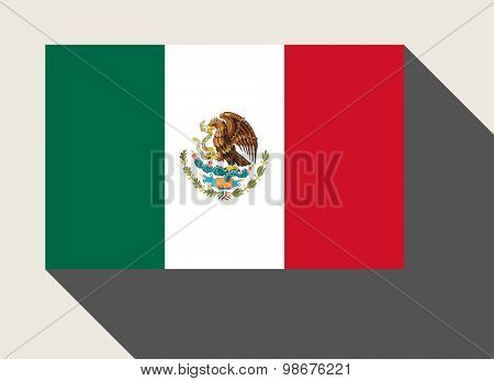 Mexico flag in flat web design style.