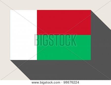 Madagascar flag in flat web design style.