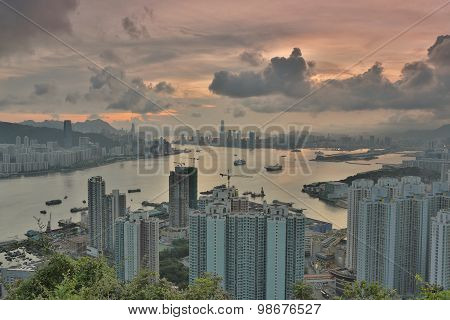 Devil S Peak View Hong Kong Night