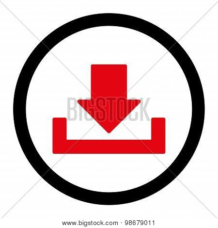 Download flat intensive red and black colors rounded vector icon