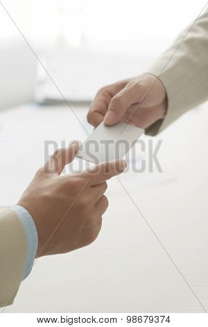 Passing Business Card