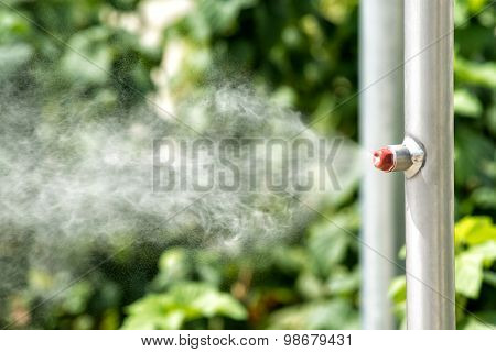 Vaporizer On A Garden Irrigation Pipe
