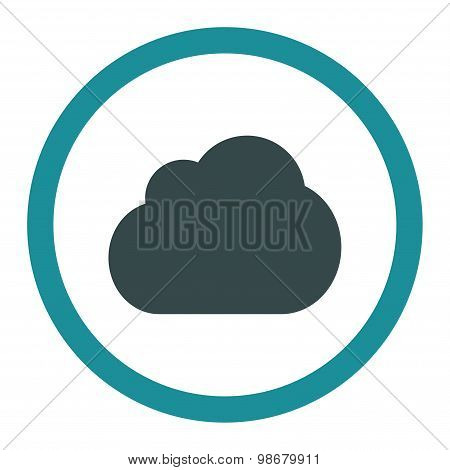 Cloud flat soft blue colors rounded vector icon