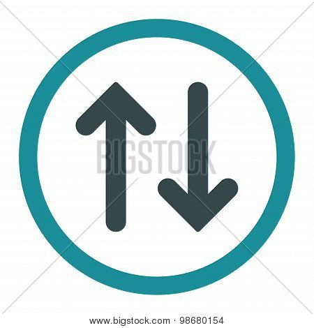 Flip flat soft blue colors rounded vector icon