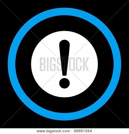 Problem flat blue and white colors rounded raster icon