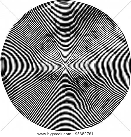 Guilloche Vector Illustration of Africa Uzumaki stile