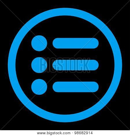 Items flat blue color rounded raster icon