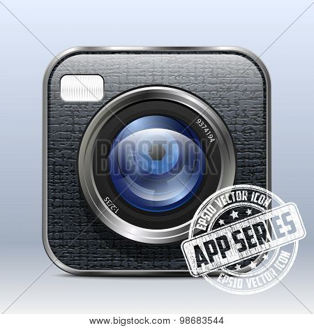 Photo Camera Icon. App Series