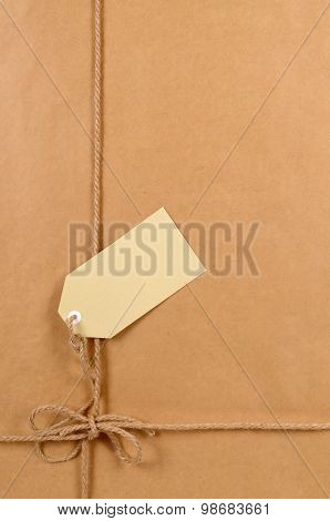 Brown Paper Package With Label