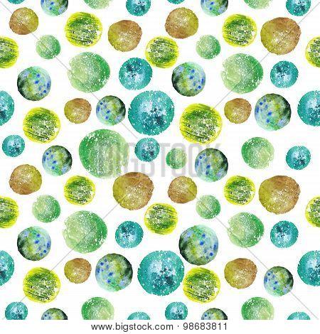 Watercolor Circle Pattern