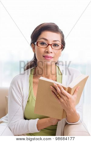 Attractive Woman With A Book