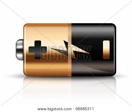 Vector Battery Icon On A White Background