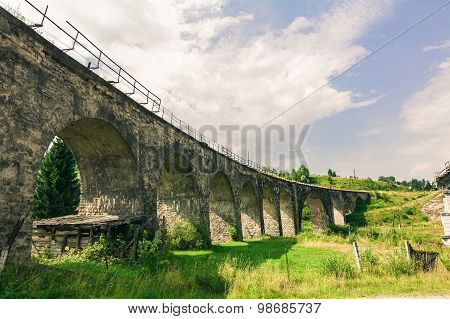 Bridge Viaduct In The Carpathians