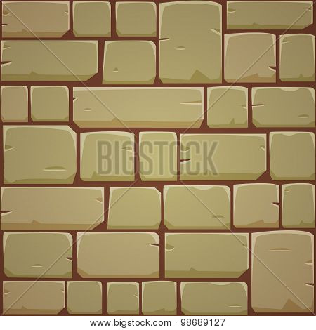 Stone Block Wall - Yellow