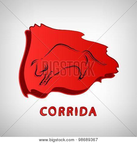 corrida or bullfight icon