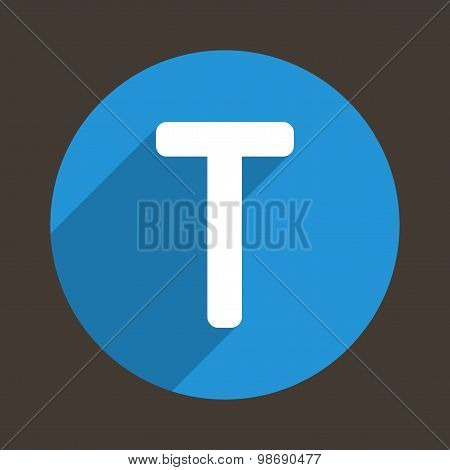 Letter T Logo Flat Icon Style. Vector
