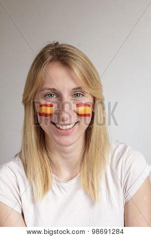 Smiling Spanish Sports Fan