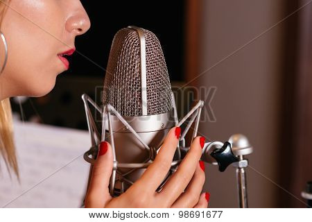 Singing With Microphone