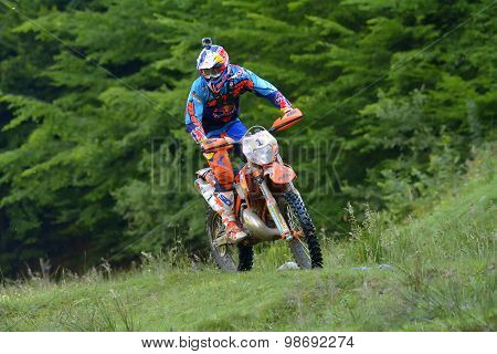 Sibiu, Romania - July 16: Jonathan Walker Competing In Red Bull Romaniacs Hard Enduro Rally With A K