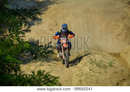 Sibiu, Romania - July 18: Tiit Tippel Competing In Red Bull Romaniacs Hard Enduro Rally With A Redmo
